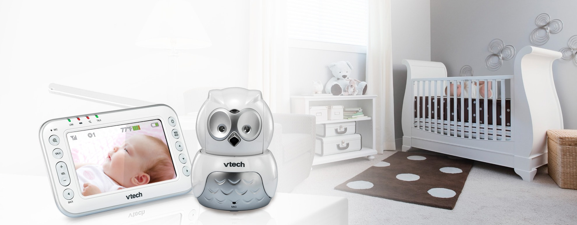 Vm344 Pan Amp Tilt Video Baby Monitor Official Vtech Baby